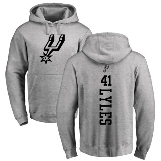 Youth Trey Lyles San Antonio Spurs Gray Heathered One Color Backer Pullover Hoodie
